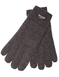 EEM Men's knitted glove LASSE with Thinsulate thermal lining, warm, 100% wool, anthra L