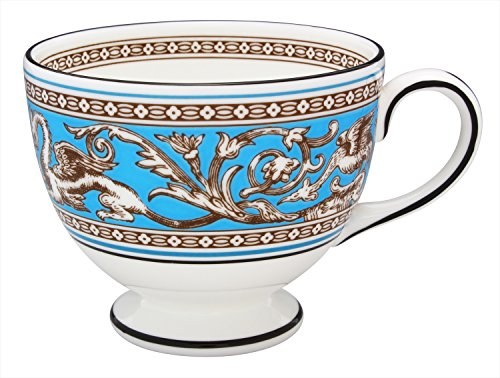 - Wedgwood Florentine Leigh Teacup, Turquoise