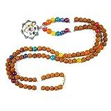 Seven Chakra Stone Mala Beads Meditation Rosary Japa Mala Healing Pendant Necklace