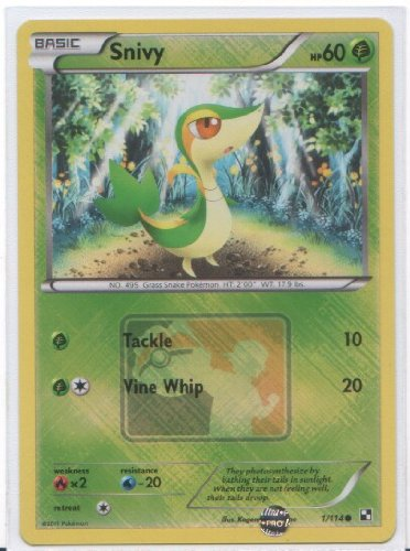Snivy - Pokemon Promo Card (Black & White #1/114) Holo-Foil