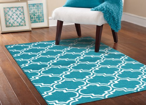 teal and white area rug Roselawnlutheran