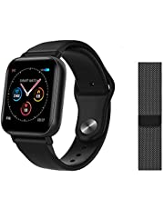 Ecloud Shop® Smart Sport Horloge Waterdichte Armband Hartslag Bloeddruk Slaapmonitor Polshorloges, met 1.3TFT HD Display en 3D Sensor, Kan Touch to Control
