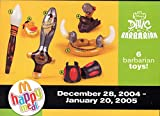 McDonalds - Dave The Barbarian Complete Happy Meal Set - 2005