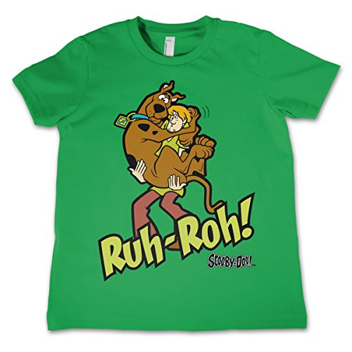 Scooby Doo Officially Licensed Ruh-Ruh Unisex Kids T-Shirt - Green 5/6 Years
