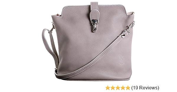 fdf3fc37d743 Primo Sacchi Italian Soft Leather Hand Made Small Beige Cross Body or Shoulder  Bag Handbag  Handbags  Amazon.com