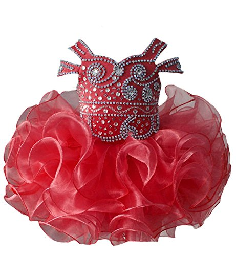 ChengCheng Toddler Baby Girls Short Party Gowns Pageant Cupcake Dresses 1 US Red
