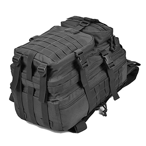 Military Tactical Backpack, Assault Pack Army Molle Bug Out Bag Backpacks Rucksack Daypack w/ US Flag Patch