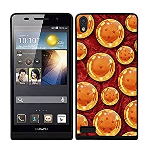 Funda carcasa TPU (Gel) para Huawei P6 diseño bola de dragón borde negro