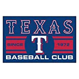 FANMATS 18486 Texas Rangers Baseball Club Starter Rug