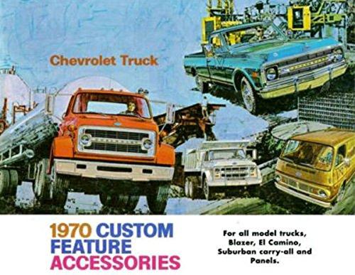 - 1970 CHEVROLET TRUCK & PICKUP ACCESSORIES AND FEATURES SALES BROCHURE - Also Medium Duty, Blazer, El Camino, Suburban, Carryall, Vans, Tilt Cab and Camper
