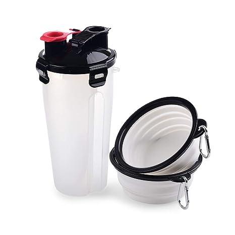MUXItrade 2 in 1 Botella de Agua para Perros para Caminar Dispensador de Agua para Mascotas