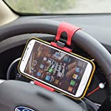 honda civic steer wheel - Black/Red Mobile Phone Holder Mount Clip Buckle Socket Hands Free on Car Steering Wheel for Honda Civic