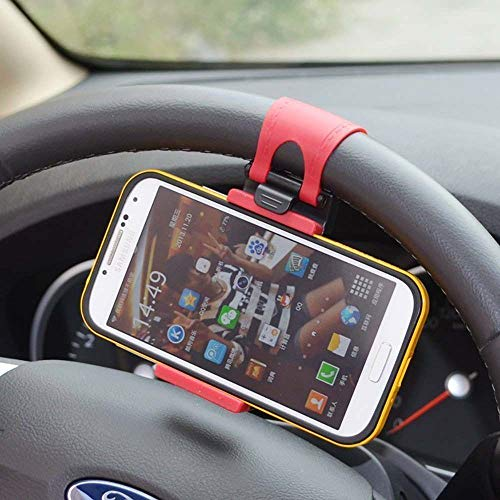 Black/Red Mobile Phone Holder Mount Clip Buckle Socket for sale  Delivered anywhere in USA