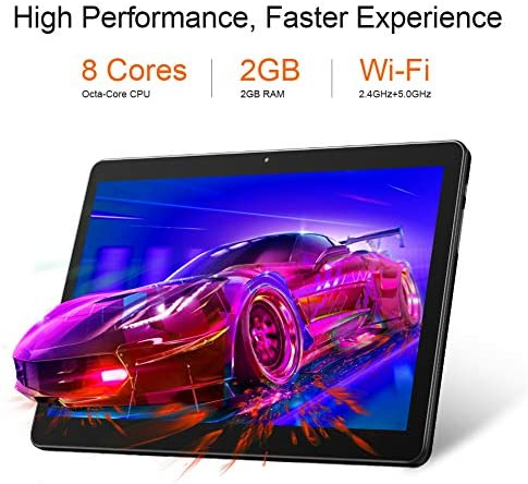 Dragon Touch Max10 Tablet, Android 9.0 Pie, Octa-Core Processor, 10 inch Android Tablets, 32GB Storage, 1200×1920 IPS HD G+G Display, 5G WiFi, USB Type C Port, Metal Body Black 51T3UNKMI 2BL