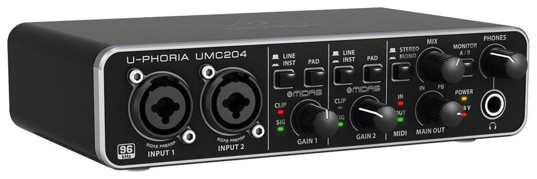 Behringer U-PHORIA UMC204 - Interfaz de audio, color negro: Amazon.es: Instrumentos musicales