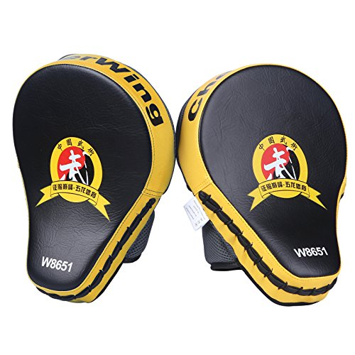 Cheerwing New Target MMA Boxing Mitt Focus Punch Pad Training Glove Karate Muay Thai Kick (Yellow (1 Pair))