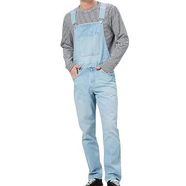 migliori offerte su ampia selezione consegna gratuita Loozykit - Salopette da Uomo Vintage con Bretelle, Pantaloni ...