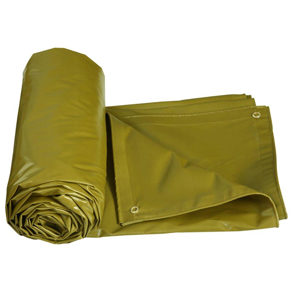 GUOWEI-pengbu ターポリン キャンバス リノリウム カバー 日焼け止め シェード 防水 耐寒性 老化防止 PVC 屋外 (色 : 黄色ダーク, サイズ さいず : 2.85x1.9m) B07FYBM2KM 2.85x1.9m 黄色ダーク 黄色ダーク 2.85x1.9m