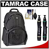 Tamrac 3385 Aero Speed Pack 85 Photo / Laptop Digital SLR Camera Backpack (Black) with Cleaning and Accessory Kit for Canon EOS 70D, 6D, 5D Mark III, Rebel T3, T5i, SL1, Nikon D3100, D3200, D5200, D7100, D600, D800, Sony Alpha A65, A77, A99, Best Gadgets