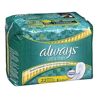Always Ultra Thin Regular Without Wings, Unscented Pads