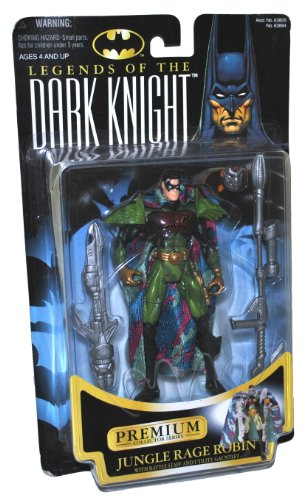 Batman Year 1997 Legends of the Dark Knight Premium Collector Series 6 Inch Tall Action Figure - JUNGLE RAGE ROBIN with Removable Mask, Battle Staff and Utility (Dark Knight Robin)