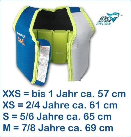 Mares Gilet de Sauvetage pour Enfant, Citron Vert, S - 5-6 Jahre (ca. 18-25kg)