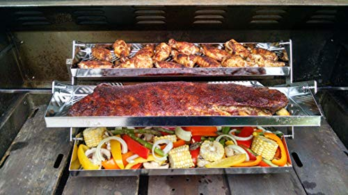 Best Barbecue Ribs - Rib-O-Lator Universal Adjustable Trays: Adjusts from