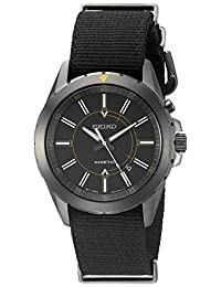 Seiko Men's SKA705 RECRAFT Kinetic Analog Display Japanese Quartz Black Watch