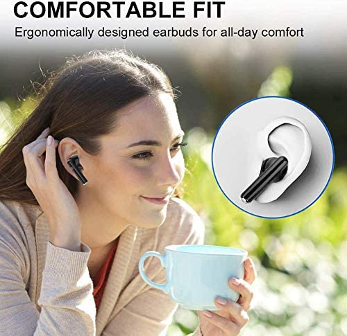 Wireless Earbuds Bluetooth 5.0 Earbuds three-D Stereo Noise Canceling Bluetooth Headphones with Fast Charging Case for IOS/Android Apple AirPods Earbuds