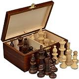 Staunton No. 5 Tournament Chess Pieces w/ Wood Box