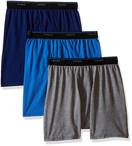Hanes Men's 3 Pack FreshIQ Comfort Blend Dyed Boxer Brief, A