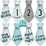 Baby Shower Gift Idea: Original Stick'Nsnap (TM) 16 Baby Monthly Necktie Onesie