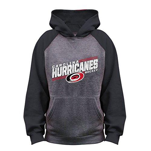 NHL Carolina Hurricanes Unisex French Terry Raglan Hood, CHARCOAL/black, (Carolina Hurricanes Hoodie)