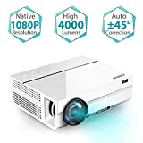 """Projector, ABOX A6 Portable Home Theater 1080p Video Projector, Up to 200"""" Image"""