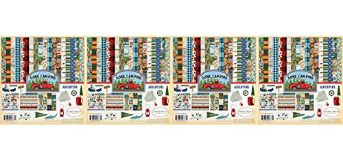 Carta Bella Paper Company CBGC85016 Gone Camping Collection Kit Paper, 12 x 12