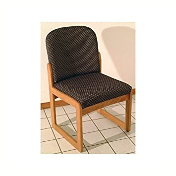 amazon com dakota wave prairie sled base armless chair in medium