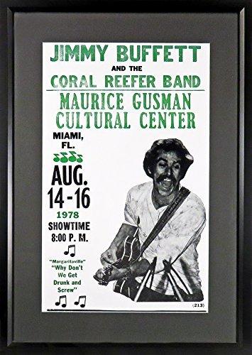Jimmy Buffett in Miami Concert Poster (Framed)