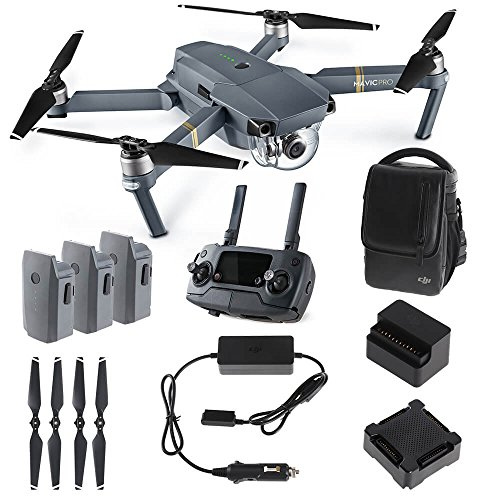 DJI Mavic PRO FLY MORE COMBO: Foldable Quadcopter Drone Kit with Remote,...