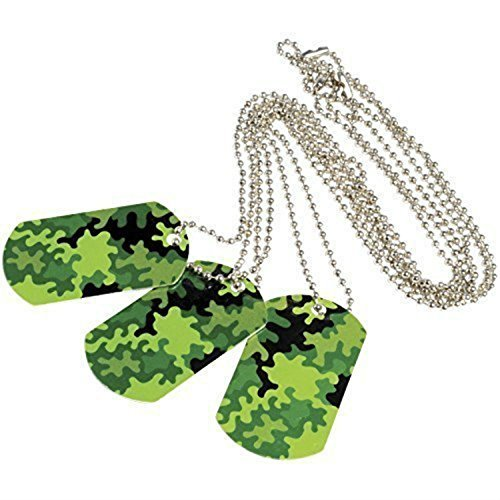U.S. Toy Camouflage Camo Metal Dog Tags (Lot of 24) -