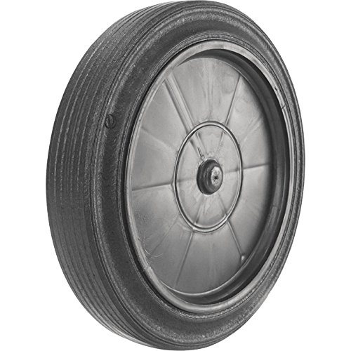 (Roll-Tech SL10-78 Snap-Lock Trash Can Replacement Wheel, 10in Wheel-7/8in Bore Fits 7/8in Axle, Black)