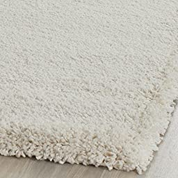 Safavieh Milan Shag Collection SG180-1212 Ivory Area Rug (4\' x 6\')