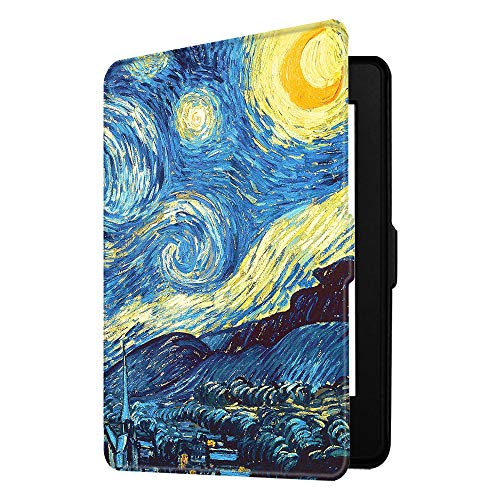 Fintie Slimshell Case for Kindle Paperwhite - Fits All Paperwhite Generations Prior to 2018 (Not Fit All-New Paperwhite 10th Gen), Starry Night