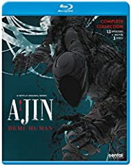 Ajin contains episodes 1-13 and the movie. When the truck slammed into Kei Nagai's body, he should have died instantly. Instead, the high-school student finds himself resurrected, with all of his wounds somehow healed. However, Kei's real pro...
