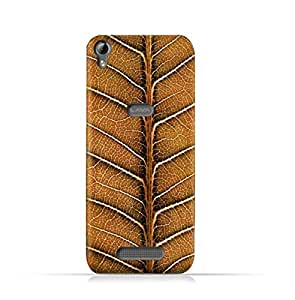 AMC Design Lava Iris Fuel 60 TPU Silicone Protective case with Natural Dried Leaf