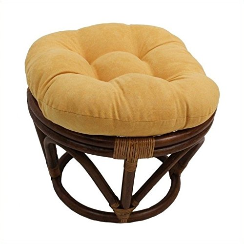 Single Papasan (International Caravan Papasan Rattan Footstool)