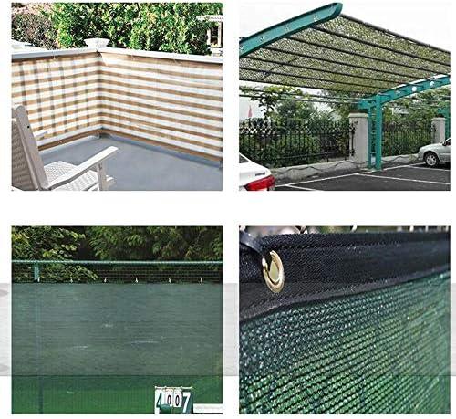 JIAYUAN sombra Solar- Cerca de la pantalla de privacidad de servicio pesado, lonas de malla de tela de parabrisas en color ojales de latón verde oscuro para el hogar, jardín, patio, 140