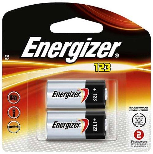 Energizer Lithium 123 Battery 3-Volt 2 per Package ()