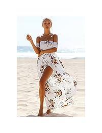 Women Boho Style Off Shoulder Beach Summer Long Dress