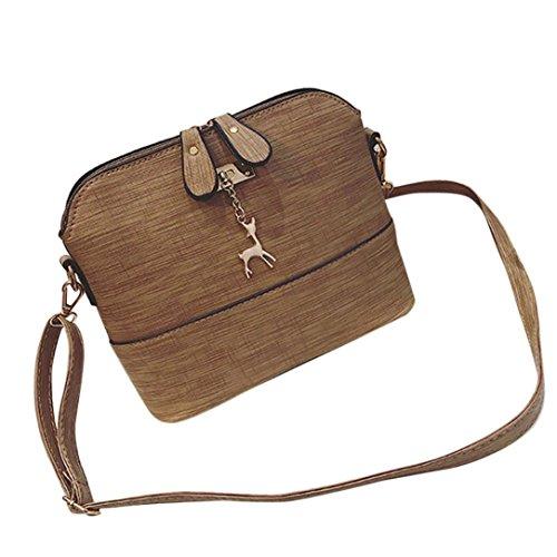 Bag Bags Leather Handbag Casual Shell Cross Mamum Khaki Packet Small Shell Small Single Vintage New female Women Deer Messenger Shoulder nYpwZCPq