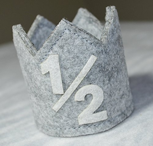 Amazon Classy Baby Boy Half 1 2 Year Birthday Gray White Party